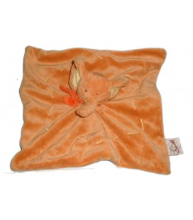 Doudou plat ELEPHANT orange - BENGY Amtoys - 2006