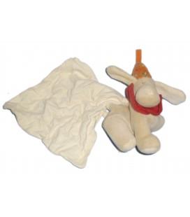 Doudou CHIEN beige Mouchorir - SUCRE D'ORGE - ** Voir description **
