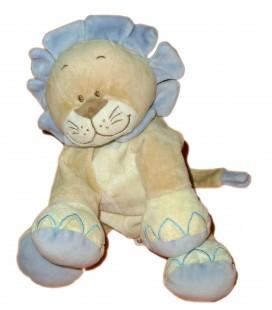 Doudou peluche LION Beige mauve BENGY - H 23 cm assis 2005
