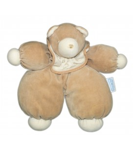 Doudou peluche OURS beige - MOULIN ROTY - H 25 cm - Grelot Hochet - 7511MO-1