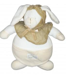Doudou lapin Blanc Cape dorée - MOULIN ROTY - H 25 cm - Deux Mille ans Bon anniversaire la vie