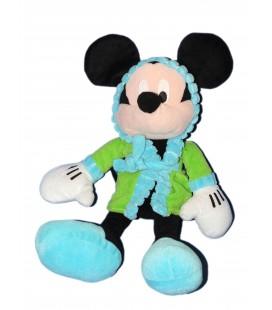 Peluche doudou MICKEY - Peignoir Vert Robe de chambre - H 42 cm - Disney Nicotoy PTS SRL
