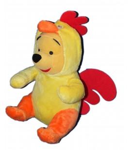 Doudou peluche Winnie Déguise en Coq - Disney Nicotoy PTS SRL - 32 cm