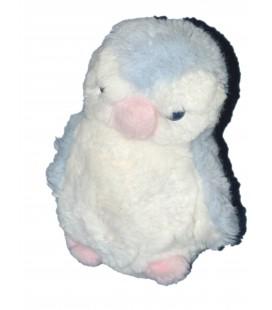 Doudou peluche PINGOUIN - BOULGOM Yeux bleus H 18 cm