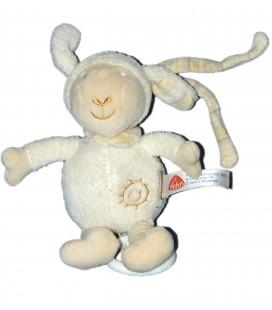 Doudou musical peluche MOUTON blanc beige - FEHN Baby - 18 cm