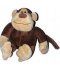 Doudou peluche SINGE marron beige assis - 17 cm - COURTEPAILLE Candyland