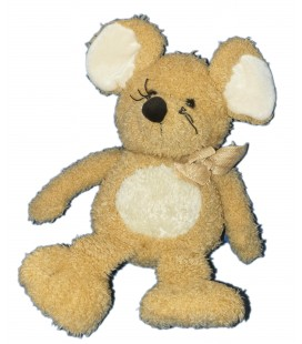 Doudou Peluche SOURIS beige ALTHANS CLUB ou Anna Club Plus - H 40 cm