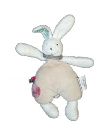 Doudou Lapin gris - Grelot - MOULIN ROTY - H 20 cm
