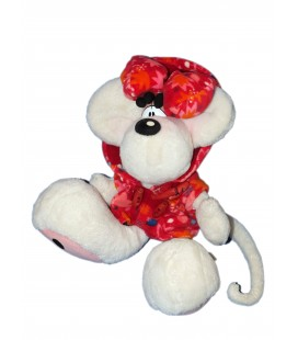 Peluche Diddlina Diddl - Manteau Noeud rouge - Depesche - 35 cm