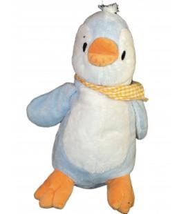 Doudou Peluche Pingouin bleu blanc ALTHANS CLUB 38 cm Foulard Orange 7569