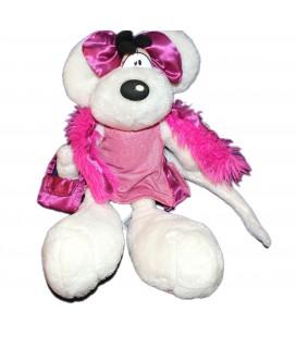 Peluche Diddlina Diddl - Robe rose de soirée Boa Sac à main - Depesche - 7578