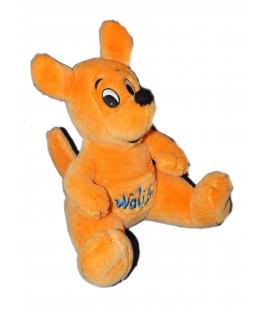 Peluche doudou Kangourou orange WALIBI H 25 cm