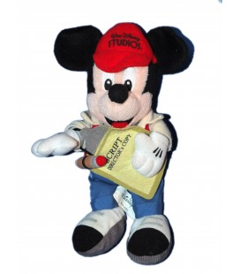 Peluche MICKEY Réalisateur cinéma - Script director - Walt Disney Studio - Disneyland - H 26 cm
