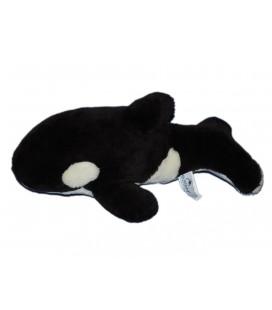 Peluche doudou Orque Dauphin noir blanc - MARINELAND - L 40 cm