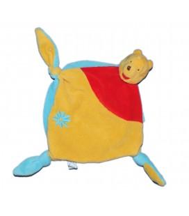 Doudou plat Winnie Disney Baby Nicotoy - Fleur - 3 noeuds 587/8805 - 7599