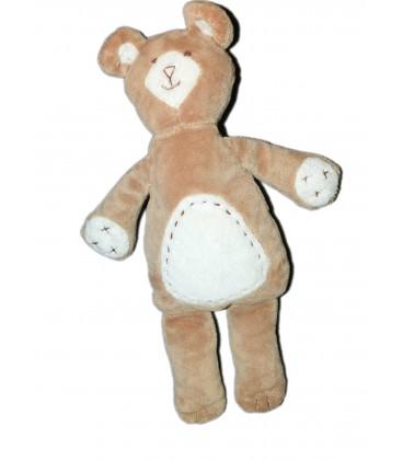 Peluche Doudou OURS beige H 32 cm - PBK - Pottery Barn Kids