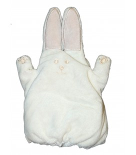 Doudou marionnette - Lapin blanc Obaibi - 22 cm