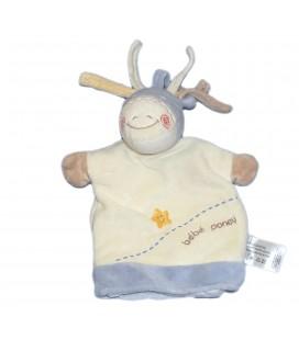 Doudou plat Marionnette blanc mauve Bébé Poney Cheval - Kiabi Avda