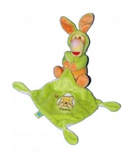 Doudou TIGROU Déguisé en lapin - Mouchoir vert Winnie - Disney Nicotoy 587/0527