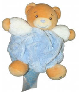 KALOO - Doudou OURS bleu Microfibres Collection plume H 17 cm