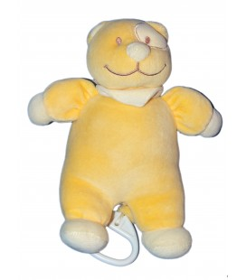 Doudou peluche Musicale chat jaune orange - TEX Baby Carrefour - 22 cm