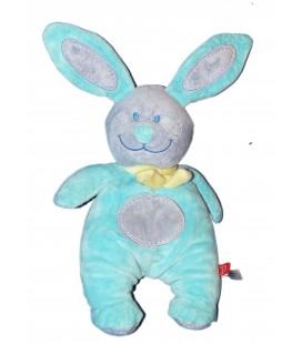 Doudou Peluche LAPIN bleu - TEX Baby - Carrefour H 28 cm + oreilles