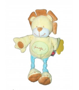 Doudou Peluche LION jaune Jungle - TEX Baby - Carrefour H 32 cm
