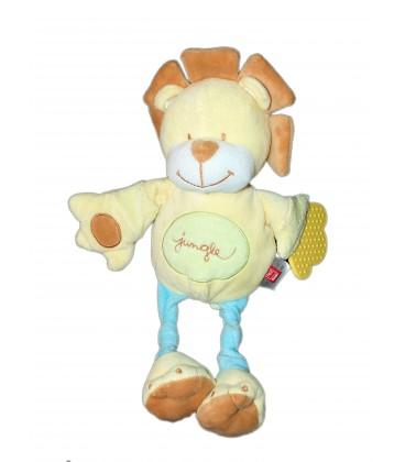 Doudou Peluche LION jaune Jungle - TEX Baby - Carrefour H 32 cm