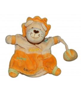 Doudou Marionnette Lion orange - BABY NAT - Adam adore le cirque