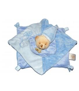 Doudou plat ours bleu Bonnet BABY NAT