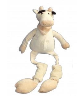Doudou Peluche VACHE beige chaussettes - Playkids CMI - H 75 cm