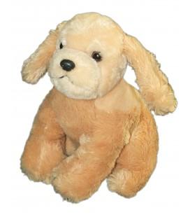 Doudou Peluche CHIEN beige - Playkids CMI - H 20 cm