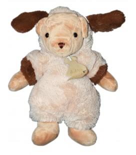 HISTOIRE D'OURS - Doudou Peluche OURS Déguisé en chien beige marron - H 28 cm