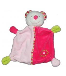 Doudou plat SOURIS rose Babysun Baby club C&A