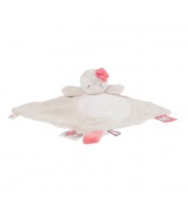 NOUKIES - Doudou plat Oiseau Coco beige rose