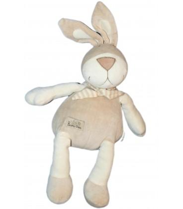 Doudou Peluche LAPIN blanc beige CA Crédit Agricole Healthy Green - H 35 cm