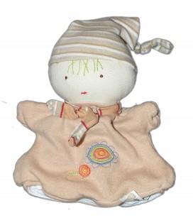 MGM Dodo d'Amour - Doudou Lutin marionnette beige Certifié Oeko-Tex