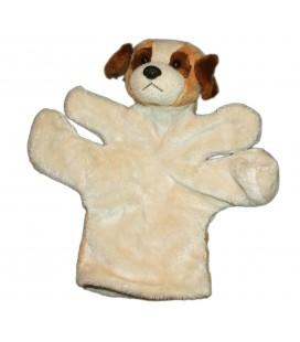 NOUNOURS Passeport tendresse Doudou chien marron beige marionnette