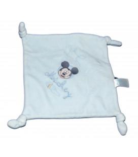 CARREFOUR CMI Doudou plat bleu Mickey 4 noeuds