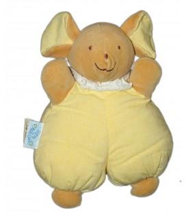 Doudou Tissu SOURIS jaune Petit Caid Histoire d'Ours