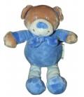 Doudou OURS bleu - GRAIN DE BLE - Zannier - H 20 cm