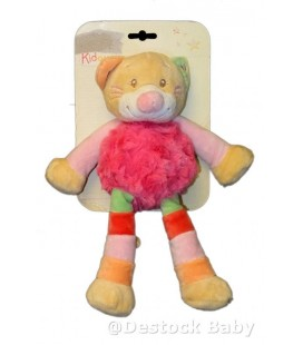 Doudou peluche CHaT rose DOU KIDOU - 25 cm - Cathy Cat