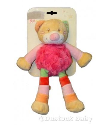 Doudou peluche CHaT rose DOU KIDOU - 25 cm - Cathy Cat