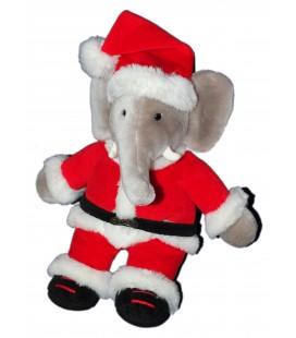 Peluche Elephant BABAR Déguisé en Père Noël GUND 35 cm