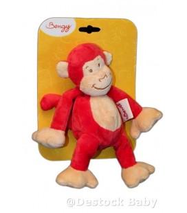 Doudou SINGE rouge beige BENGY Red Monkey aMTOYS 2008 - 20 cm
