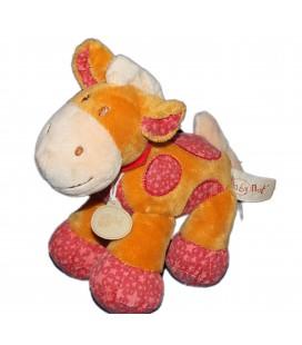 Doudou Peluche Cheval vache girafe Zanimos Baby Nat 20 cm