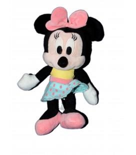 Peluche doudou MINNIE Jupe bleue pois Disney Nicotoy H 26 cm 587/9129