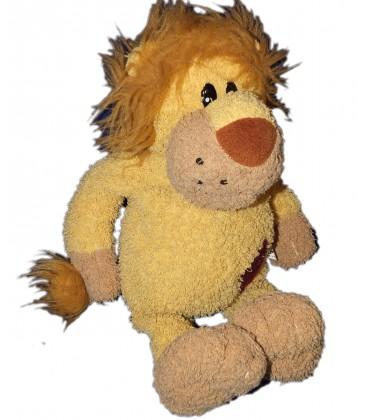 Peluche doudou LION beige marron CP International H 42 cm