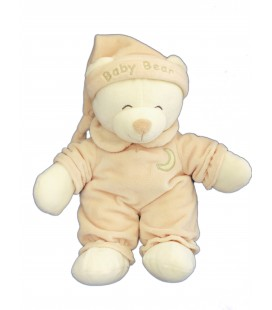 Doudou peluche OURS beige GIPSY H 28 cm Collections Peluches