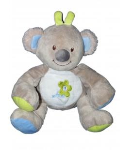 Doudou peluche koala panda gris vert bleu Bebisol - Arthur et Lola 22 cm